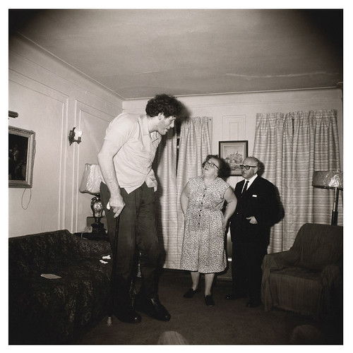 Arbus, Diane (1923-1971) - 1970 A Jewish Giant at Home with His Parents in The Bronx, N.Y by RasMarley
