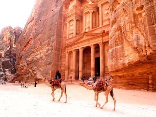 Petra, en Jordania.