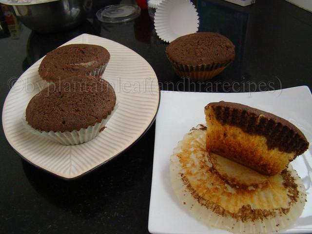 vanilla choco muffin