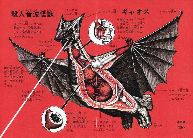 "Shoji Ohtomo - ""Kaiju Zukan"" (Monster Picture Book) Pages 84-85, Gyoas"