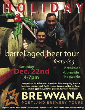 Brewvana Barrel Aged Beer Tour