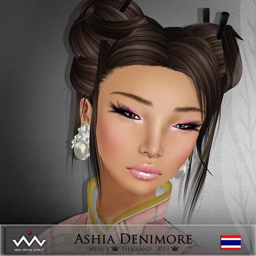 Ashia Denimore (Miss Thailand) MVW