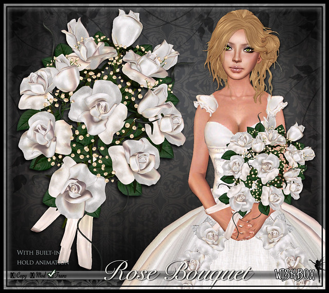 Premier Rose Bouquet (White)