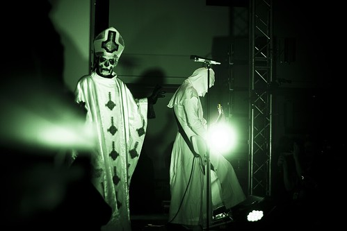 Papa Emeritus I from Ghost, live @ Cupolen, Linköping