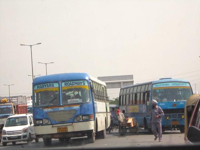 buses & cart between