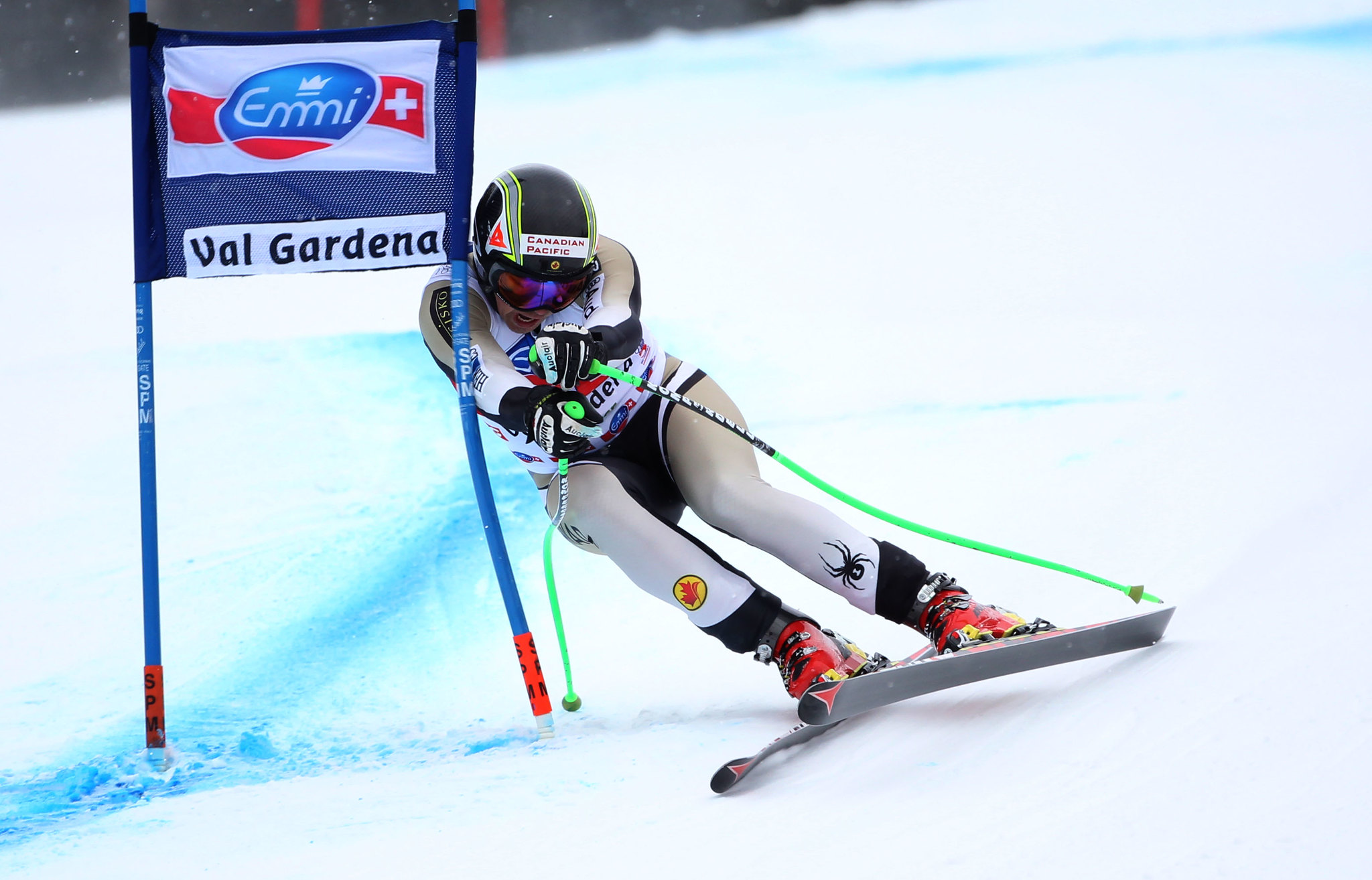 John Kucera in action during World Cup super-G in Val Gardena, Italy.