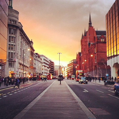 Pretty epic sunset tonight! Miracle to even see a sunset in London!!