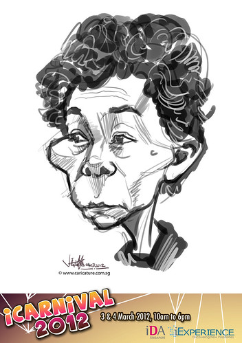digital live caricature for iCarnival 2012  (IDA) - Day 2 - 30