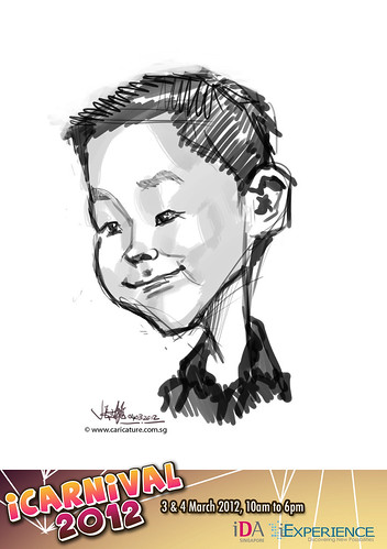digital live caricature for iCarnival 2012  (IDA) - Day 2 - 67