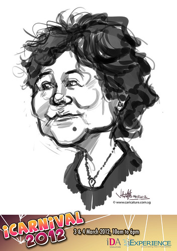 digital live caricature for iCarnival 2012  (IDA) - Day 2 - 28