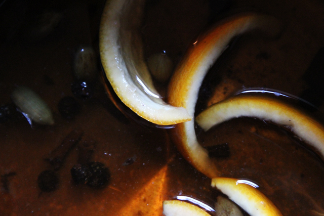 simmering orange peels, etc.