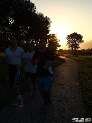 慢跑中的人們