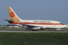 Continental Airlines Boeing 737-100; N14212@BUF, May 1993/AWE