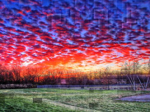 clouds sunrise urbana hdr