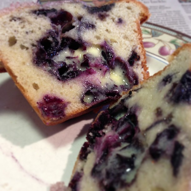 The Original Jordan Marsh Blueberry Muffins Toasted with Butter