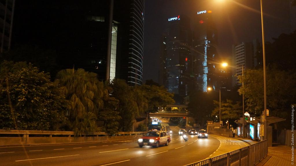 Небоскребы вокруг пика Виктория в Гонконге