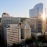 Portland Skyline in Summer