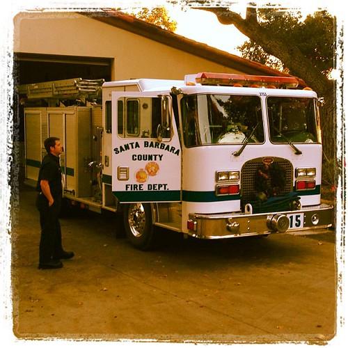 White firetruck