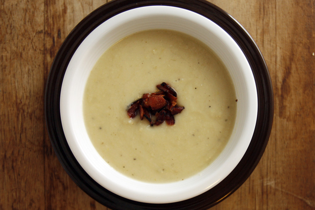 Celeriac, Potato, and Leek Soup