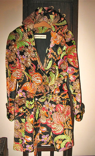 Donald Brooks' quilted tapestry coat