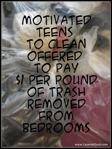 Motivate Teens to Clean www.LayeredSoul.com