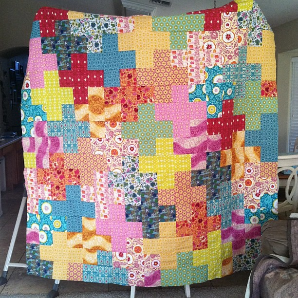 A peek at the plus quilt.