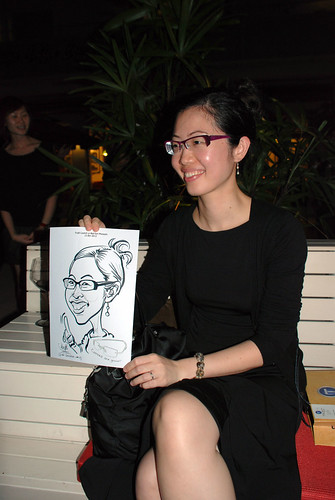 caricature live sketching for Kaleido Vision Pte Ltd Product Launch - 13