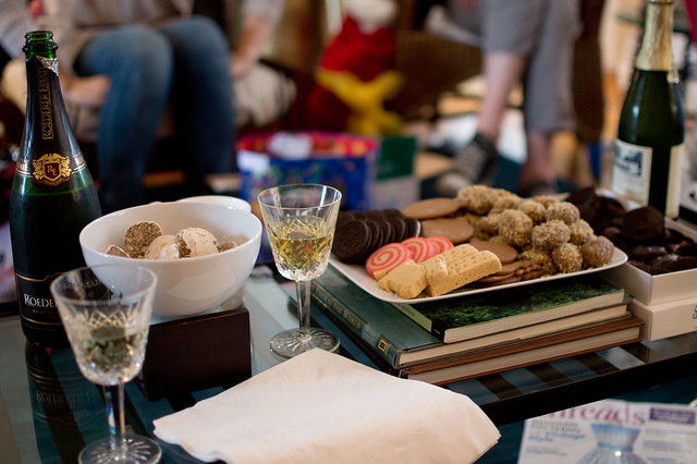 Christmas 2012 - cookies + champagne