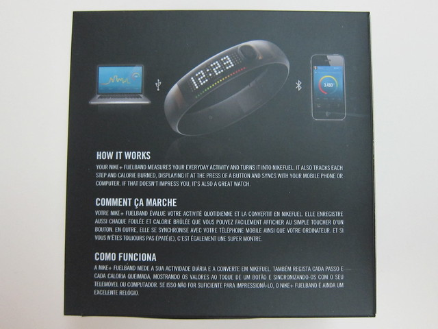 Nike+ FuelBand (Black Ice) - Box Back