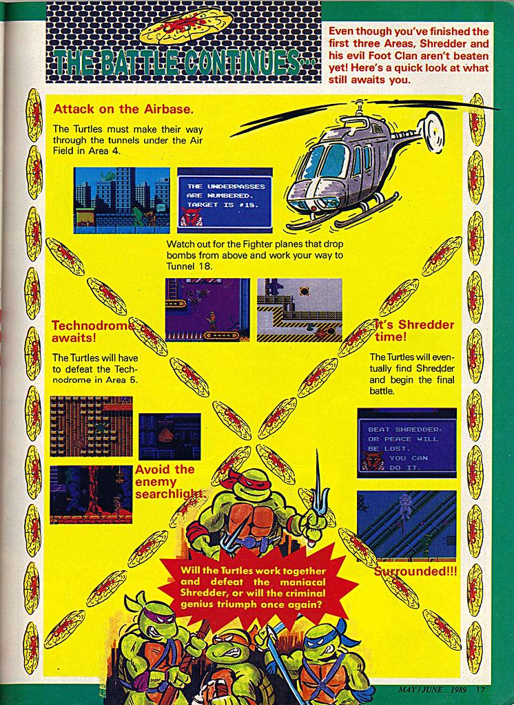 "NINTENDO POWER ::  MAY/JUNE 1989 // Vx p.17 "" TEENAGE MUTANT NINJA TURTLES "" { original review } by tOkKa"