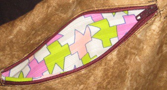 zipper pocket sadie bag
