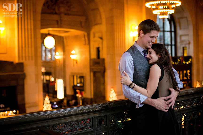 Union Station Kansas City engagement photography