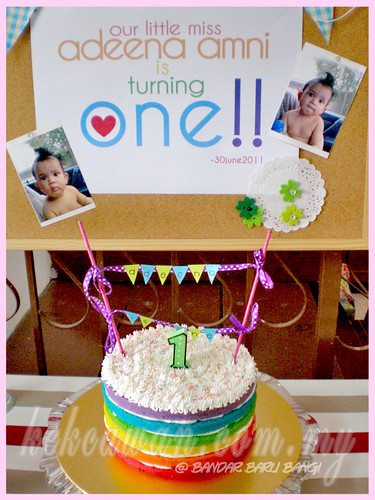 Rainbow Cake for Little Adeena Auni 1st Birthday!
