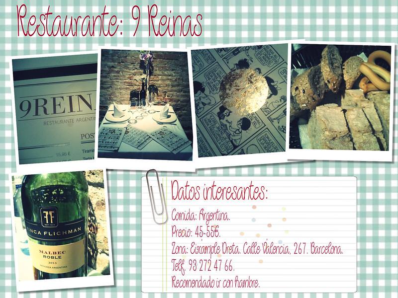 Restaurante Bcn 9 reinas