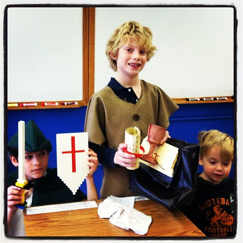 """The Youngest Templar"" and his helpers..."