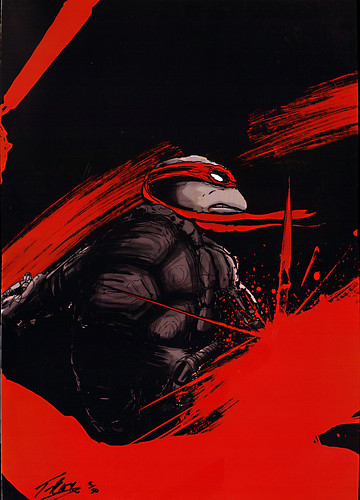 "TMNT :: ""CRIMSON MIKE"" ..signed print by by TRISTAN JONES (( 2012 ))"