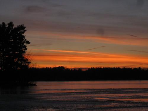 winter sunset sky orange usa lake cold ice water beautiful town frozen skies zoom dusk massachusetts horizon mass treeline dirtylens tyngsborough tyngsboro lakemascuppic mascuppic