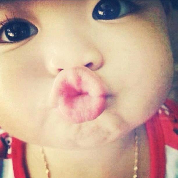 Cute Baby Girl Lips: #adorable #cute #baby #girl #kiss #duckface #kids #lips