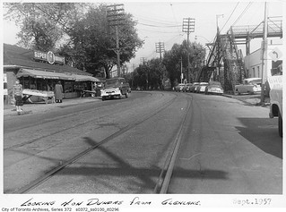 Dundas Street West, looking north from Glenlake Avenue