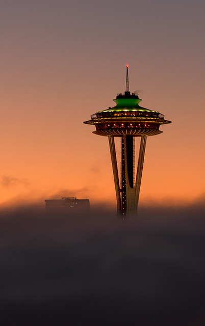 Seattle under the fog