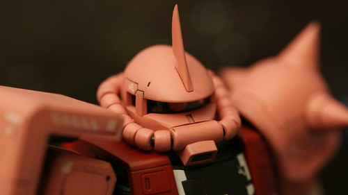 "Real Grade 1/144 - MS-06S Zaku II ""Char Aznable Custom"" - Completed 1 -"