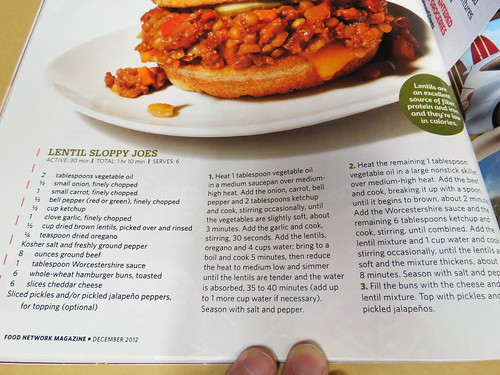Lentil Sloppy Joes Recipe from Food Network Magazine