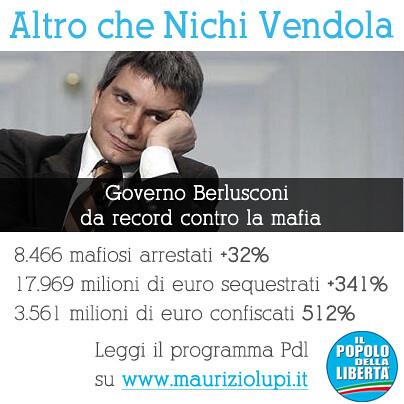 Record di Berlusconi contro la mafia