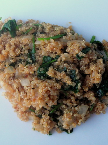 Onion and Spinach Quinoa Cooked 2