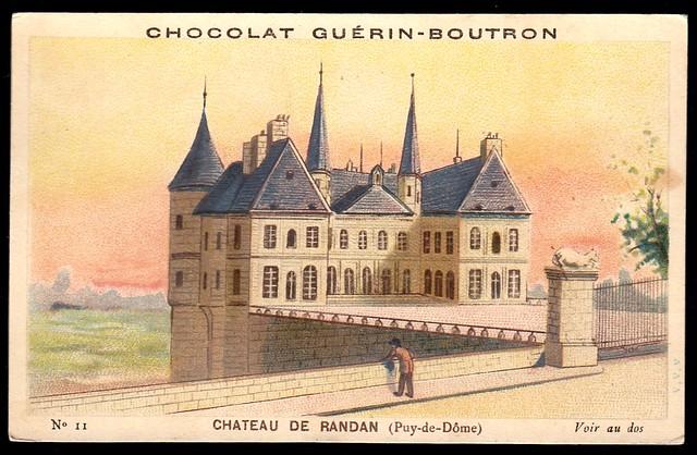 French Tradecard - Chateau De Randan