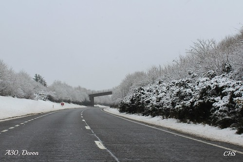 The A30 near  Dartmoor - 23rd January 2013 by Stocker Images