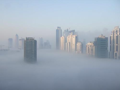 Foggy Dubai Marathon Morning