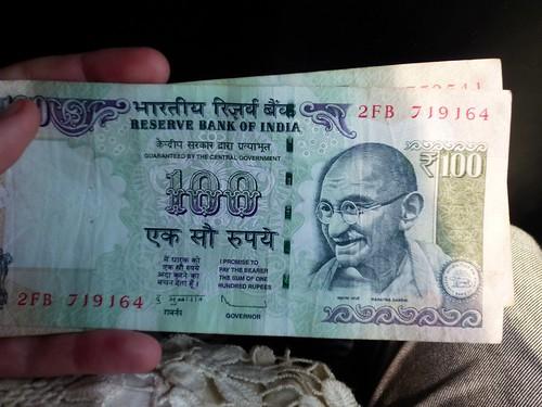 100 rupias