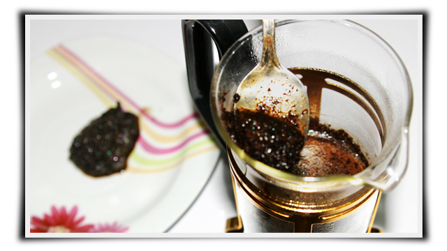 Perfect Kopi Luwak Coffee with French Press, ampas kopi luwak