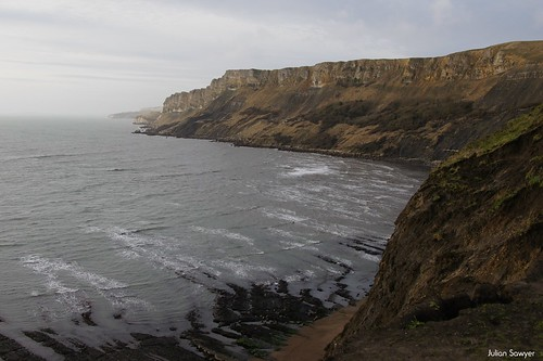 The Gad Cliff by julian sawyer - Purbeck Footprints